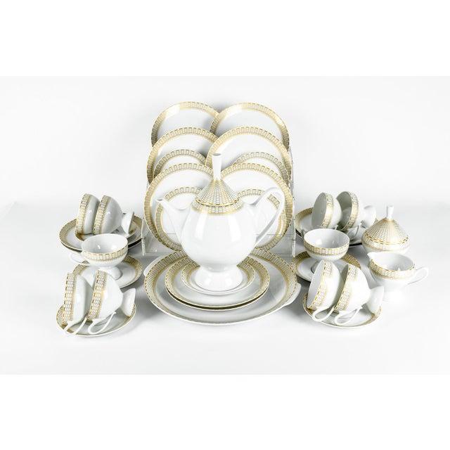 Art Deco German Porcelain Luncheon Tea & Coffee Set For Sale - Image 9 of 9