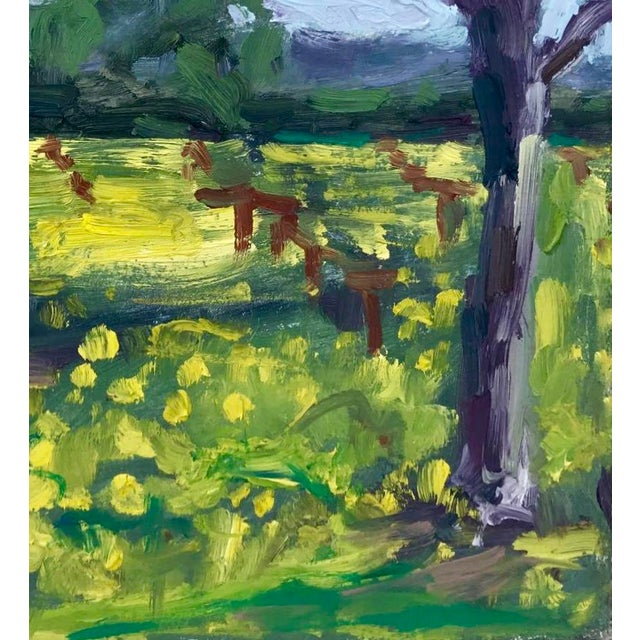 Abstract Suisun Valley Mustard Grass Original Landscape Oil Painting For Sale - Image 3 of 12