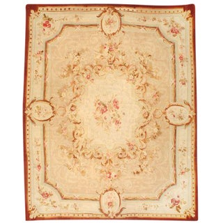 Antique 19th Century French Aubusson Carpet For Sale