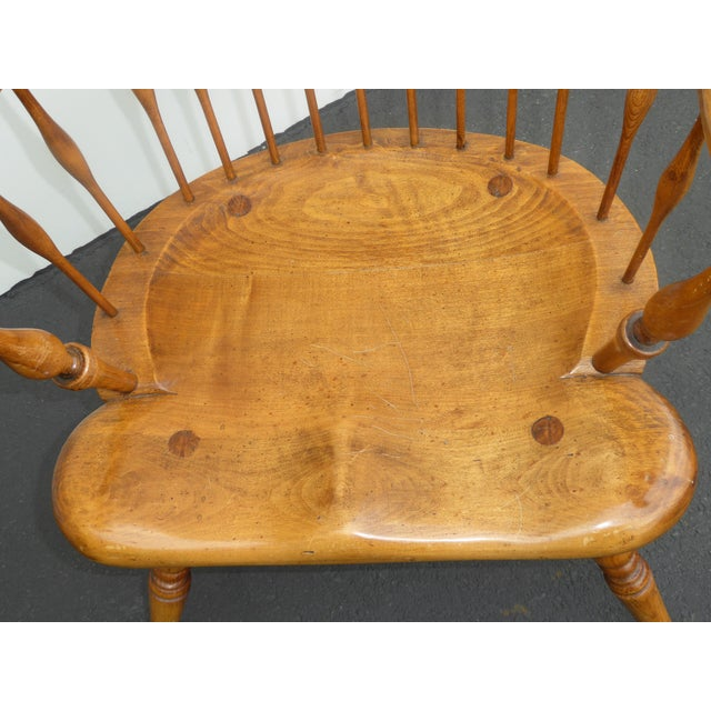 Brown Jean of Topanga Vintage High Banister Windsor Chair Farmhouse Chic For Sale - Image 8 of 11