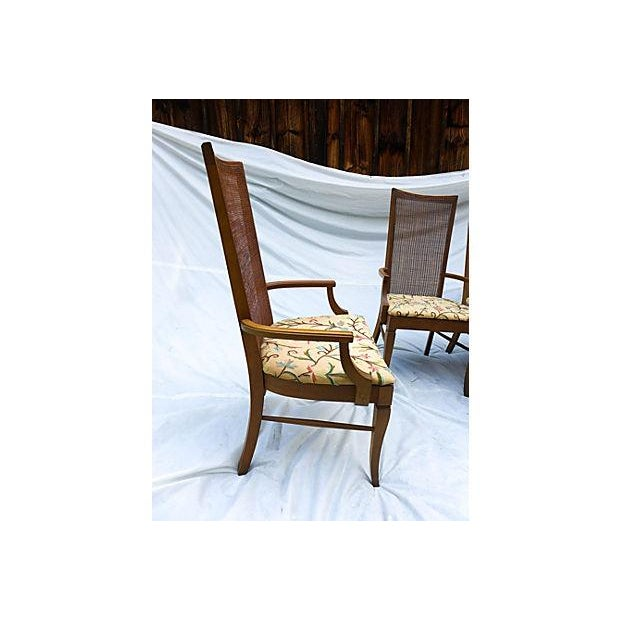 Mid-Century Caned Dining Chairs - Set of 6 - Image 4 of 8
