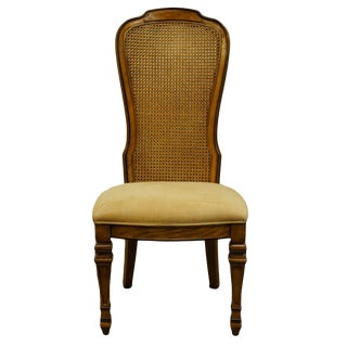 Bernhardt Furniture Italian Provincial Cane Back Dining Side Chair For Sale