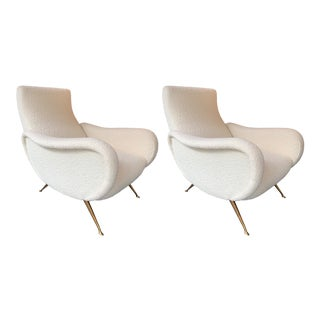 Pair of Italian Armchairs Saluzzo by Carlo Monti for Cmg. Italy, 1950s For Sale
