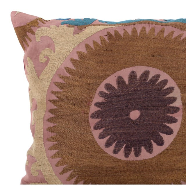 Vintage Cotton Embroidered Pillow - Image 2 of 4