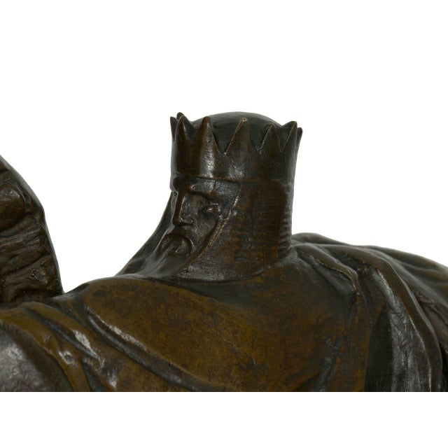 "Metal ""The Four Horsemen of the Apocalypse"" Bronze Sculpture by Lee Oscar Lawrie (German/American, 1877-1963) For Sale - Image 7 of 13"