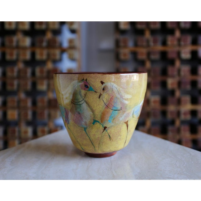 Ceramic Vintage Mid Century Polia Pillin Ceramic Bowl For Sale - Image 7 of 7