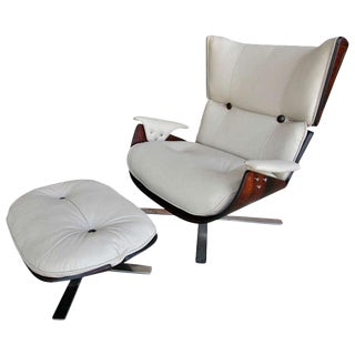 Zalszupin Paulistana Armchair and Ottoman For Sale