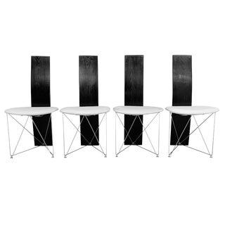 1980s Post Modern Torstein Flatøy for Bahus Dining Chairs- Set of 4 For Sale