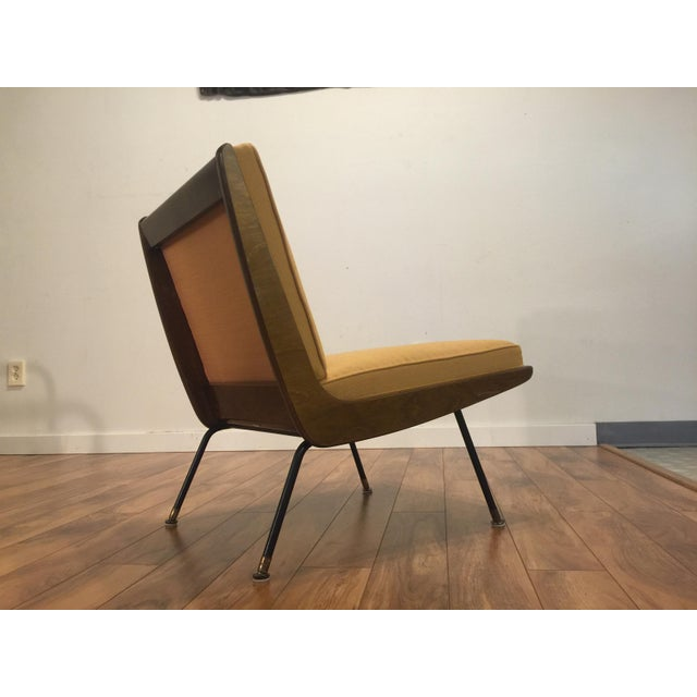 New Yellow Upholstery Mid-Century Boomerang Chair For Sale In Seattle - Image 6 of 11