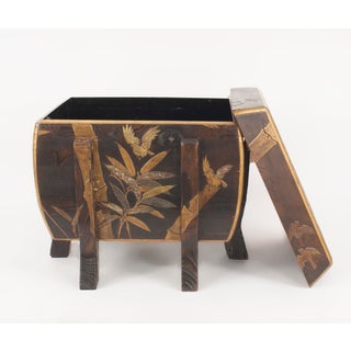 Asian Japanese Brown Lacquered Floor Trunk Preview