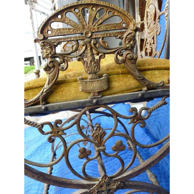 Mid-Century Modern Mid-Century Modern Oscar Bach Bronze and Iron Armchair For Sale - Image 3 of 7