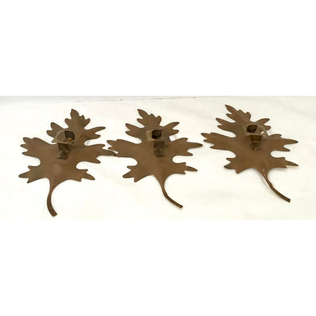 Mid 20th Century 20th Century Brutalist Metal Leaf Wall Art - 3 Piece Set For Sale - Image 5 of 7