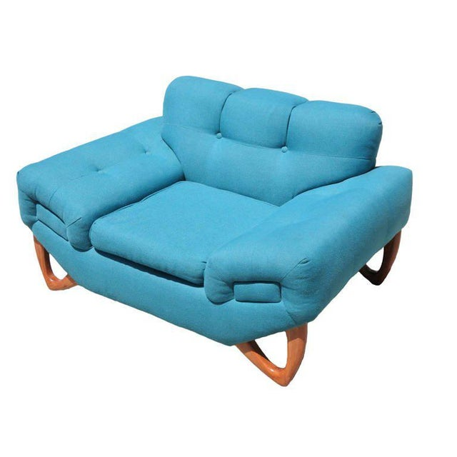 Mid-Century Modern Mid-Century Modern Lounge Chair in the Manner of Adrian Pearsall For Sale - Image 3 of 6