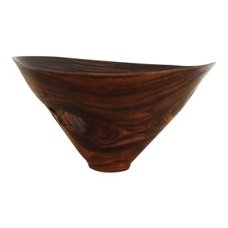 Vintage Studio Craft Handmade Wood Turned Rosewood Bowl | Dennis Stewart