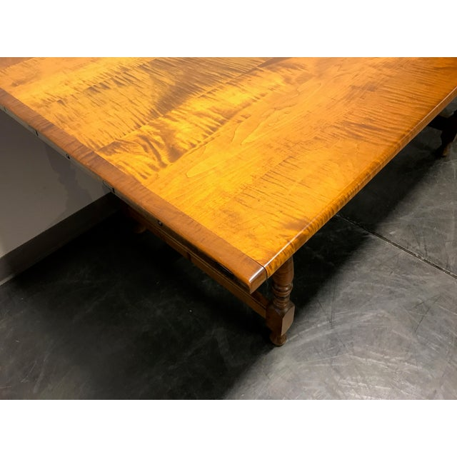 Brown JL Treharn Tiger Maple Mission Shaker Amish Style Farmhouse Dining Table For Sale - Image 8 of 11