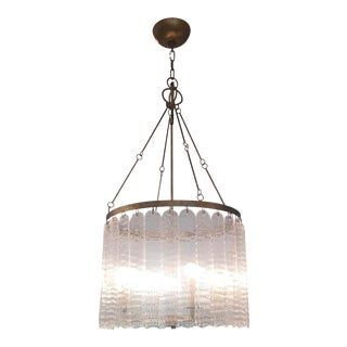 Mercure Lucite Panel Chandelier For Sale