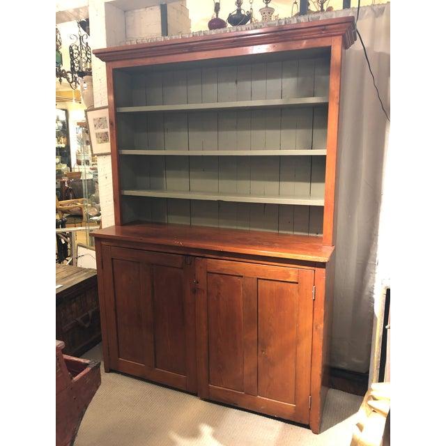 19th Century Antique Pine Poplar Cupboard Cabinet Chairish