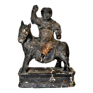 Ming Dynasty 18th Century Warrior Statue For Sale