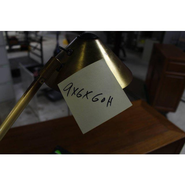 Metal Adjustable Mid-Century Modern Brass Floor Lamp George Kovacs For Sale - Image 7 of 9