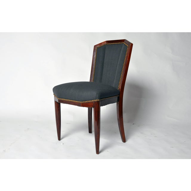 Art Deco 1940s Art Deco Dining Chairs - Set of 6 For Sale - Image 3 of 10