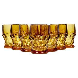 1950s Amber Glass Tumblers - Set of 8