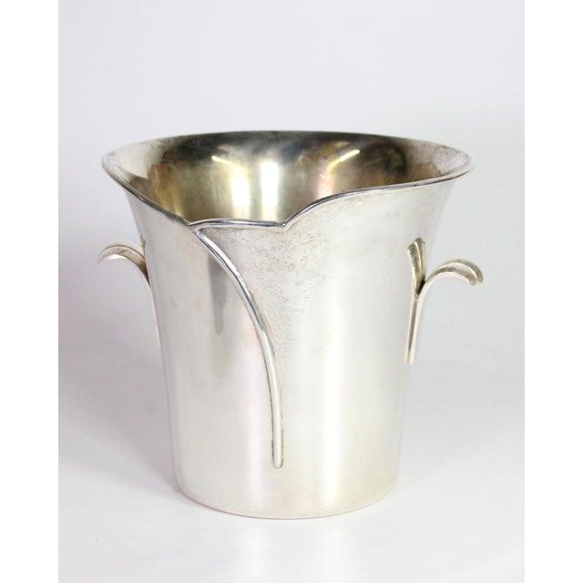 Godinger 1980s Post Art Nouveau Godinger Silver Plated Ice Bucket For Sale - Image 4 of 6