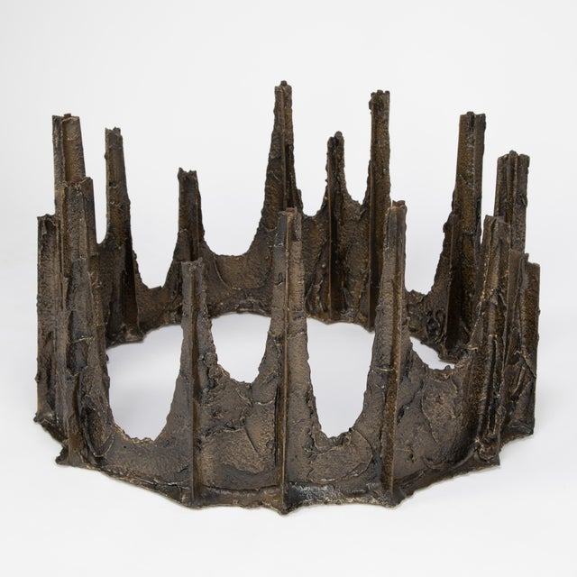 Paul Evans Paul Evans Sculpted Bronze Stalagmite Coffee Table, 1969 For Sale - Image 4 of 13