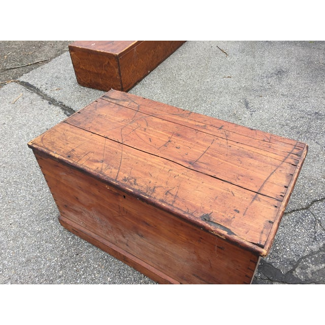 Flat Top Trunk With Handles - Image 5 of 5