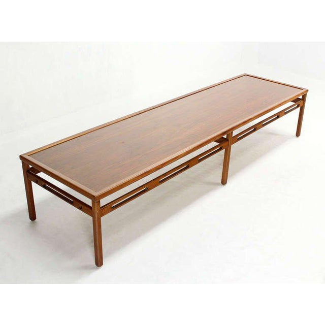 Sophisticated Oversized Long Rectangular Walnut Coffee Display