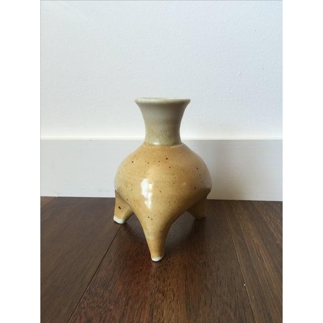 Mid-Century Tripod Clay Pot - Image 2 of 6