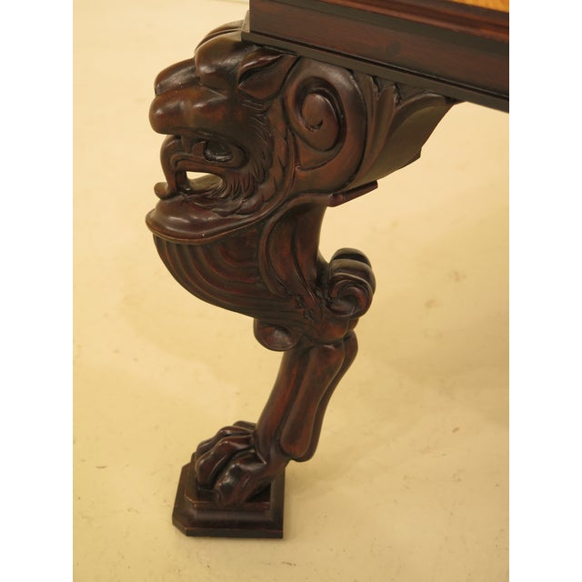 Baker Furniture Company Baker Stately Homes Russian Empire Lion Head Coffee Table For Sale - Image 4 of 13