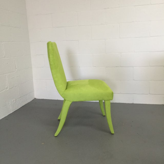 Mid Century Lime Dining Chairs - Set of 6 - Image 7 of 9