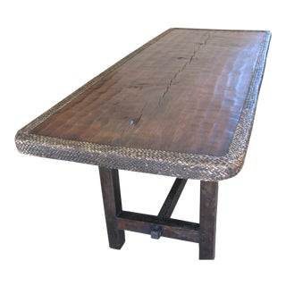 Early 20th Century Hand Carved Ifugao Dining Table For Sale