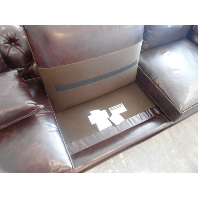 Kravet Chesterfield 3-Seat Sofa, Brown Tufted Leather For Sale - Image 11 of 11