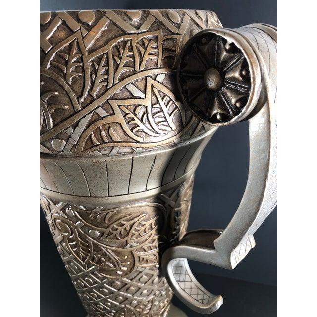 Mediterranean Contemporary Mediterranean Uttermost Grecian Urn / Vase With Handles For Sale - Image 3 of 11
