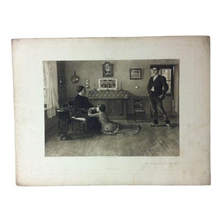 """Antique Photogravure on Paper, """"Interceding for Her Brother"""" from D. Appleton & Co - Circa 1860 For Sale"""
