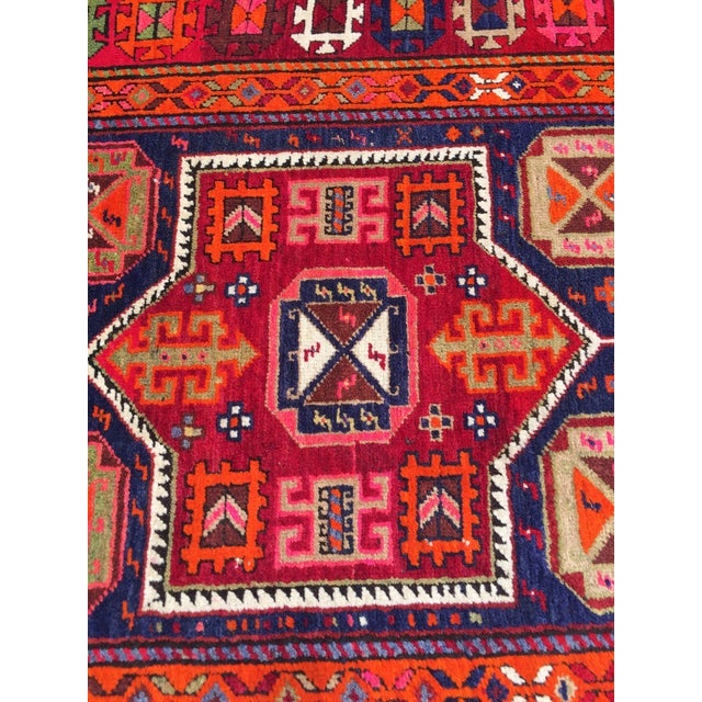 Vintage Turkish Tribal Hand Knotted Runner - 3′10″ × 10′3″ For Sale In New York - Image 6 of 11