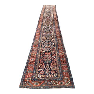 Early 20th Century Antique Caucasian Karabagh Hallway Runner Rug - 3′8″ × 16′6″ For Sale