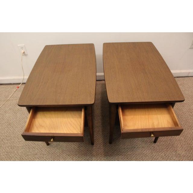 Mid-Century Danish Modern Walnut Side Tables - A Pair - Image 8 of 11