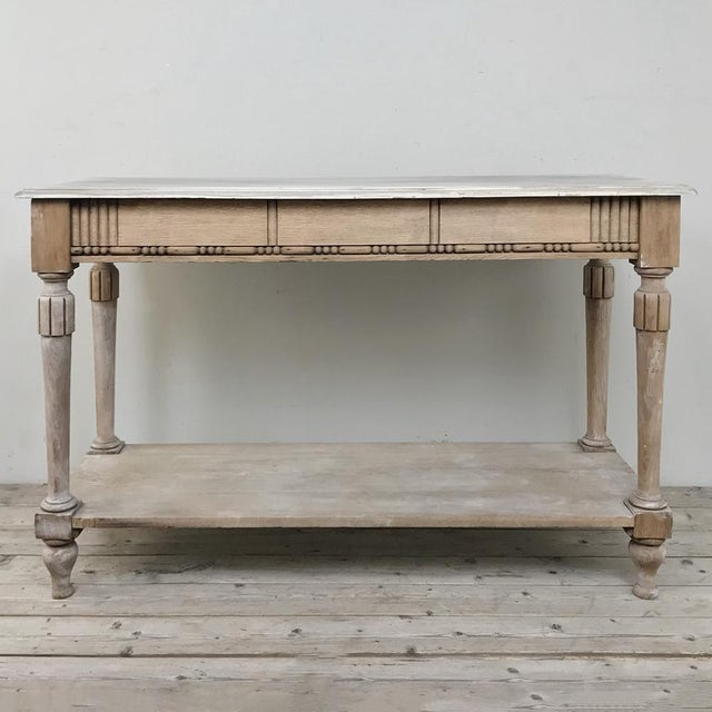 Antique Country French Whitewashed Console ~ Sofa Table For Sale - Image 10 of 13