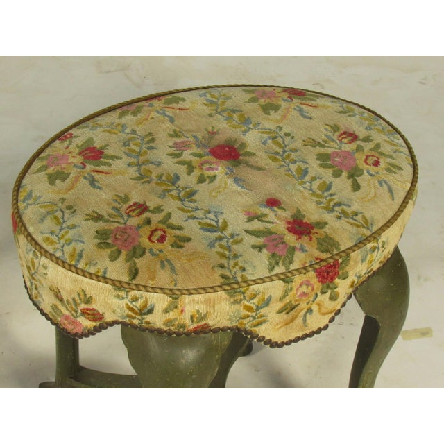 Yale Burge French Painted Stools - a Pair For Sale - Image 5 of 8