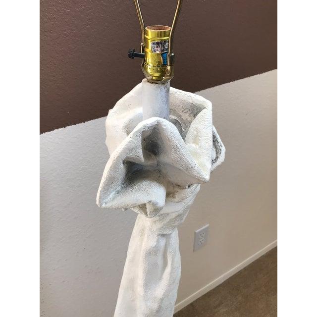 1980s Mid Century John Dickinson Draped Plaster Floor Lamp For Sale - Image 11 of 13