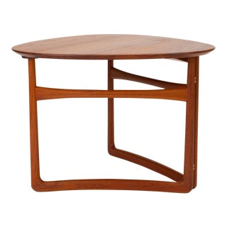 Trilateral Folding Side Table by Peter Hvidt and Orla Mølgaard-Nielsen For Sale