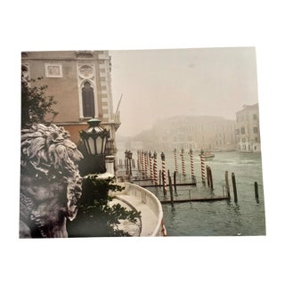 """""""Grand Canal Lion in Fog"""" Contemporary Plein Art Photo Print by Louise Weinberg For Sale"""