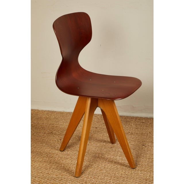 Mid-Century German School Chairs - Set of 6 For Sale - Image 9 of 13