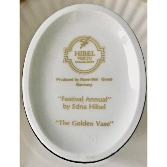 """Art Nouveau Edna Hibel Rosenthal """"Festival Annual"""" Golden Vase For Sale - Image 3 of 13"""