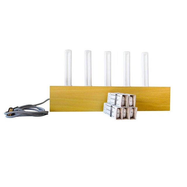"""Ettore Sottsass """"Pattica"""" Yellow Maple Table Lamp For Sale - Image 10 of 11"""