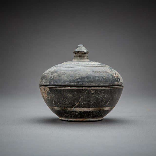 Asian Gandharan Buddhist Green Schist Reliquary For Sale - Image 3 of 3