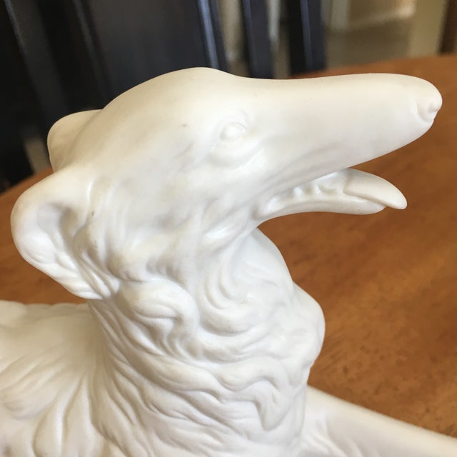 Vintage Bisque Porcelain Greyhound/Whippet For Sale - Image 4 of 5