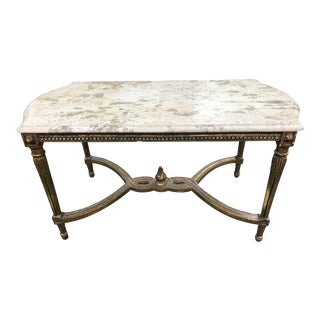 Louis XVI French Style Marble Top Table